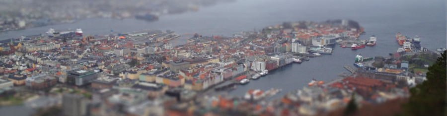 Miniature Bergen-tiltshift
